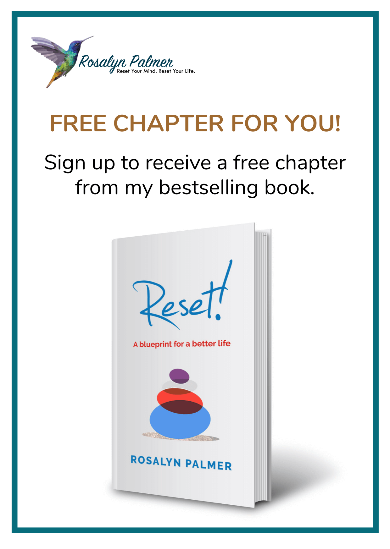 Reset!: A blueprint for a better life by Rosalyn Palmer (Front cover)